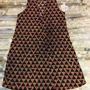 LulaRoe Joy Beautiful Fall Geometric Medium Vest